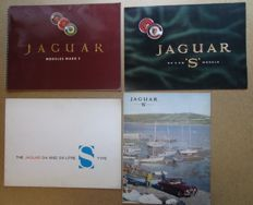 Jaguar - lot de 4 brochures originales pour les Mark 2 & modeles S, 3.4 / 3.8 - vers 1960