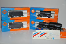 Roco H0 - 4336C/4301F - 5 goods wagons of the NS