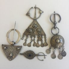 Berber Fibula collection of four - North Africa - from 1800's