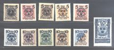Sweden 1910/1916 - Selection of some series - Facit no. 68/70 + 75/78 + 115/25