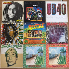 Lot of 9 Reggae albums; Bob Marley, Ziggy Marley, Jimmy Cliff, Jah Woosh, UB40 and others