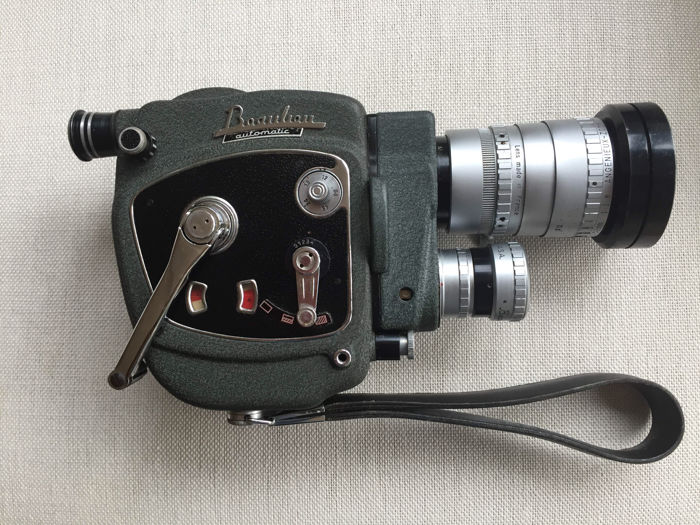 Beaulieu Paillard automatic 8mm film camera, circa 1962 with Angenieux zoom lens