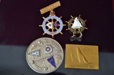 4 sail boat medals - 1 silver 3 bronze - Portugal