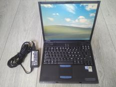 Compaq Evo N600c vintage notebook - Intel Pentium III 1Ghz CPU, 512MB RAM, 60GB HDD, Windows XP - with charger