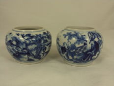 Two beautifully decorated pots - China - 19th century