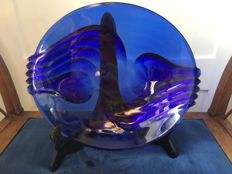 Unknown - blue crystal dish