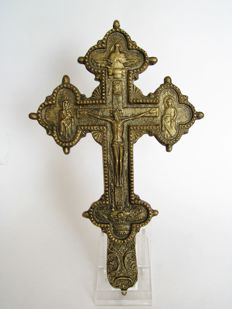 Antique Russian blessing cross - Russia - probably 19th century