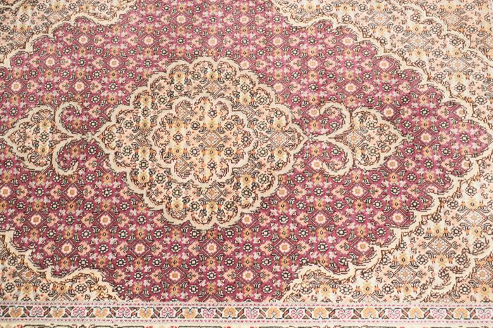 Persian Mahi Tabriz rug with silk -  20th century, like new