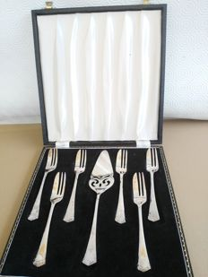 Bellissimo Set di 7 Posate per dolce/Torta placcato in argento E.p.n.s, Made in England