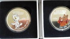 "The Netherlands – Various medals 2016 ""Bommel and Tom Poes"" (2 pieces) – silver"