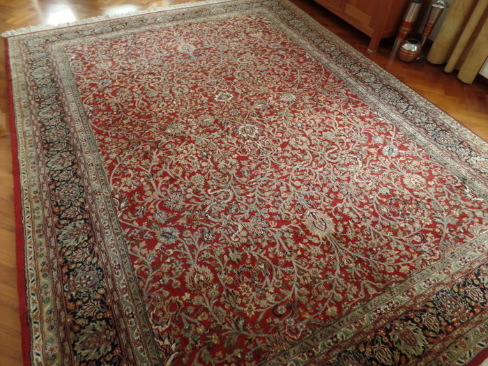 Hand-knotted Indo-Kashan carpet 341 x 260 cm