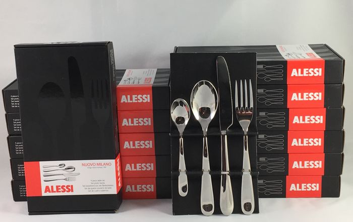 Ettore Sottsass for ALESSI Nuovo Milano - 12 x cutlery set, total 48 pieces