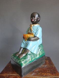 Missionaries collection box (nodding doll) - 20th century
