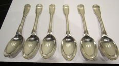 Six silver dinner spoons, Germany, Augsburg, 1775
