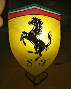 Large and exclusive Ferrari logo 62x37 - limited edition 8/99 - From Bologna motor car show in Bologna, Italy - 2013