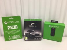 XBOX ONE game Forza 5 Limited Edition Steelcase + 3 months Xbox Live Gold + Media Remote