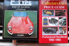 2 Books Jaguar E Type End of an Era - by Chris Harvey and Miller's Collectors Cars Price Guide