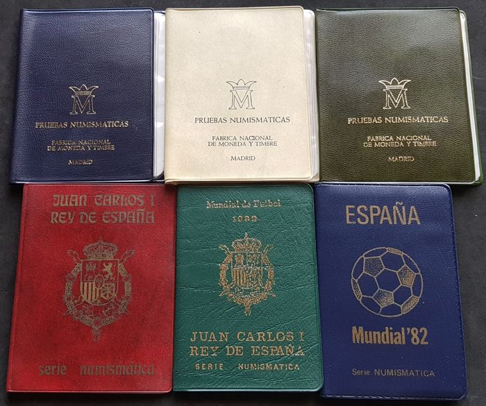 "Spain – 6 Wallets ""Provas Numismáticas"" 1975, 1980  – Madrid"