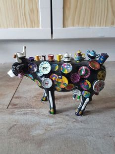 Meredith Mc Cord voor Cow parade, cowparade, Moo Potter, medium, resin