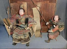 Large Samurai Musha Ningyo warrior Dolls - Japan - 19th century (late Edo period)