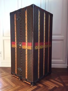Louis Vuitton wardrobe trunk - with the famous monogram pattern - France, 1930