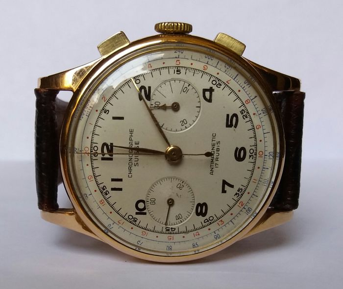 Chronograph Suisse – 18 kt gold – Men's