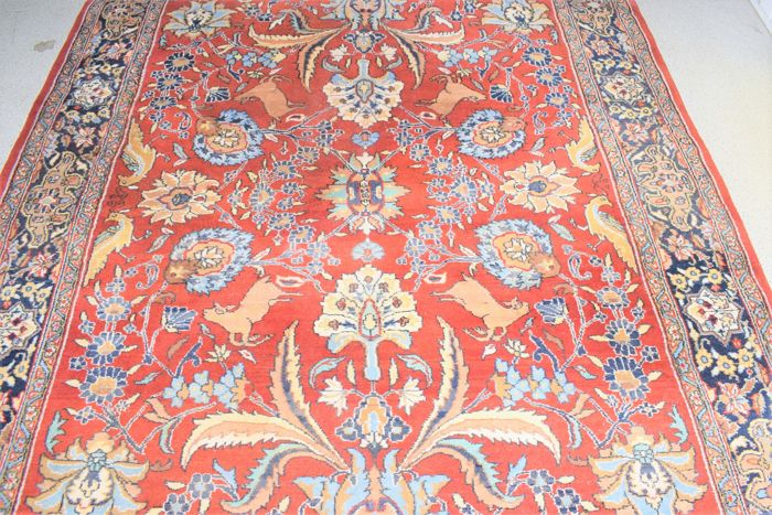 Magnificent oriental Ghum carpet - 2nd half 20th century - 270 x 170 cm