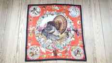 """Hermès - Superb """"Fauna and Flora of Texas - Texas Wildlife"""" square by Kermit Oliver in good condition"""