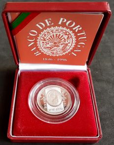 Portugal –  500 Escudos 1996 – Banco De Portugal (Bank of Portugal) 150 Years ( 1848-1996 ) – Silver PROOF – Lisbon