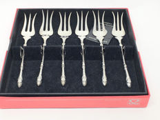 Set with silver forks with goat's leg, Schoonhoven, The Netherlands, 20th century