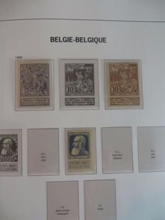 Belgium – Batch of stamps and blocks in three albums and on separate sheets.