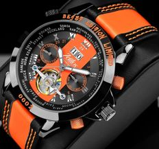 Zeitlos Excellent Beast limited edition orange GMT automatic