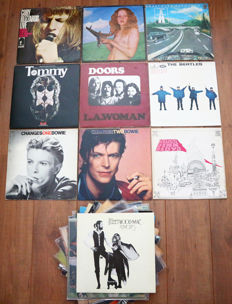 Great lot of 20 pop/ rock lp's: Cuby & The Blizzards, Blind Faith, Kraftwerk, The Who, The Doors, 4x The Beatles, 2x Bowie, Fleetwood Mac, Pink Floyd, Bob Dylan etc...