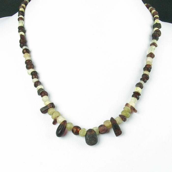Necklace with Roman glass beads - 46 cm