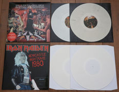 Iron Maiden- lot of 2 special releases: Dance of Death (Limited edition coloured vinyl w. printed inners) & Newcastle Nightmare 1980 (Limited edition, 150 copies only on white wax!)