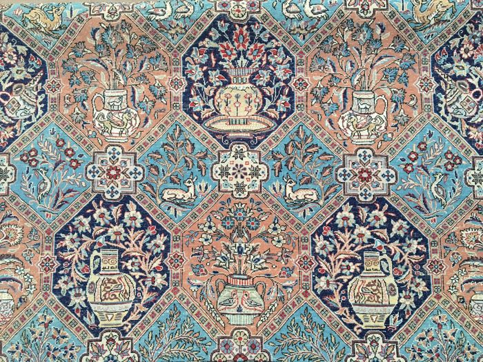 Persian QOM with SILK - with certificate of authenticity - approx. 313 x 216 cm - condition: VERY GOOD