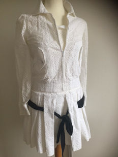 Valentino – set of dress with jacket, with broderie anglaise