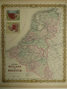 Holland, Belgium, Luxembourg; Johnson & Browning. - Coltons Holland and Belgium - 1866