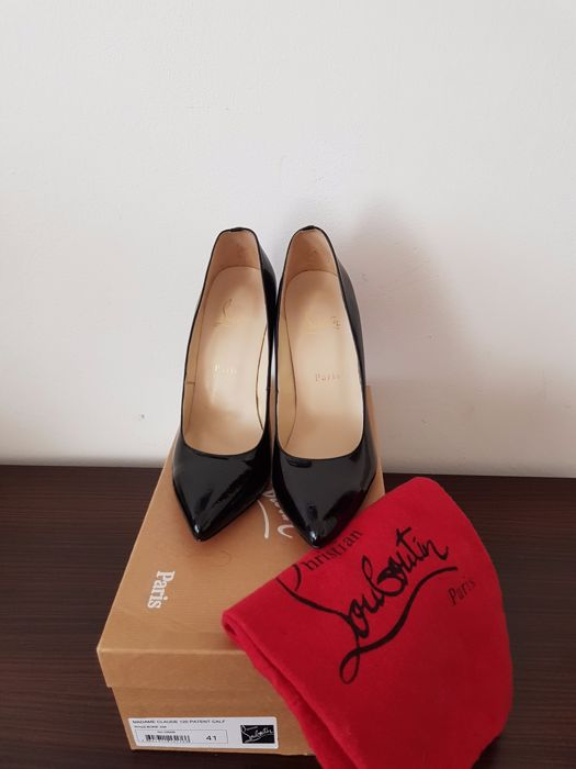 68636e94834 norway christian louboutin black patent leather pigalle font a3275 ed2e1