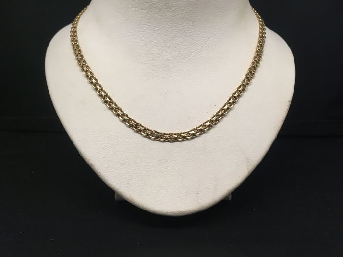 14 kt yellow gold necklace, length 45 cm