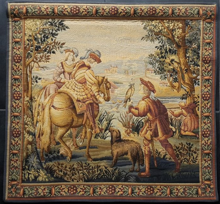 Traditional Flemish tapestry, second half of 20th century