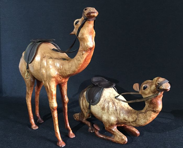 2 Leather camels - 2nd half of 20th century
