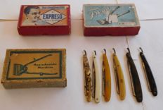 9-piece Set of Hairdressing Supplies / from the 50s - Germany