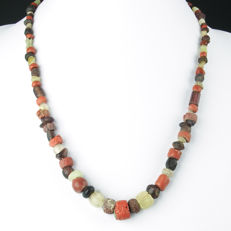 Necklace with Roman glass beads - 49 cm