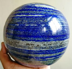 Top Grade Huge Blue Lapis Lazuli Carved ball - 138 mm - 5.904 kg