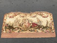 A Napoleon III Aubusson hand woven sofa upholstery - France - late 19th century