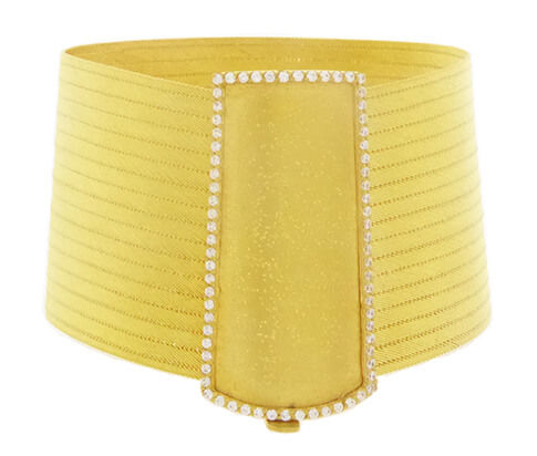 22 kt gold bangle with zirconia – Width: