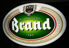 2-sided oval - convex Illuminated advertising for Brand Beer / 2nd half of the 20th century