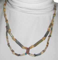 Old Egyptian necklace or faience beads - 48 cm.