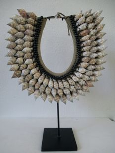 Necklace on stand - IATMUL - Papua New Guinea